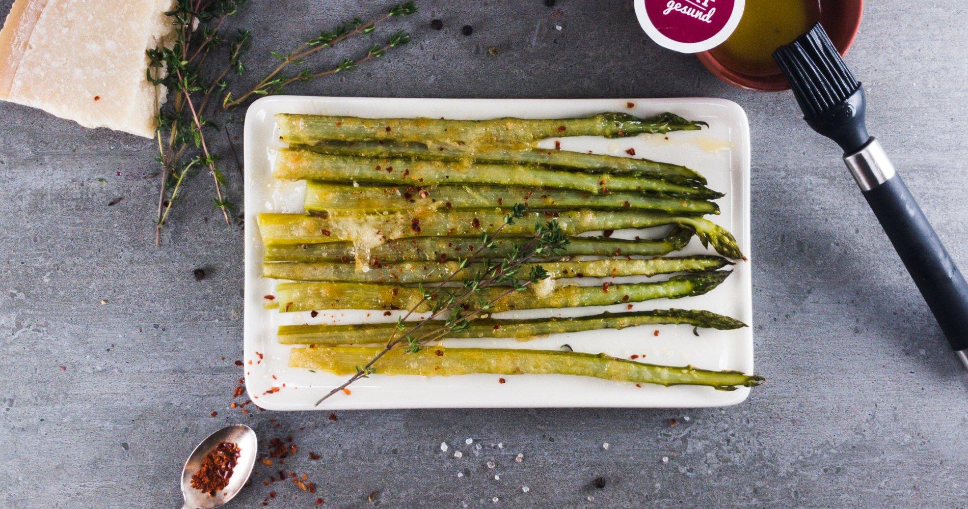 Rezept Low Carb: Grüner Spargel aus dem Ofen - LCHF-gesund.de