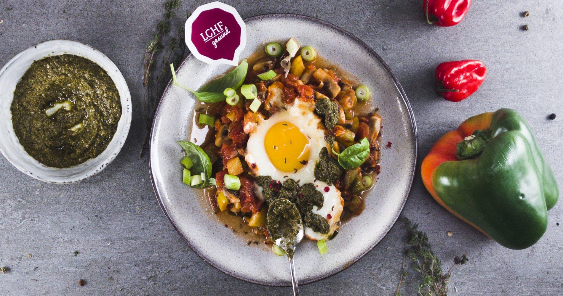 Rezept Low Carb: Champignon-Paprika-Pfanne - LCHF-gesund.de