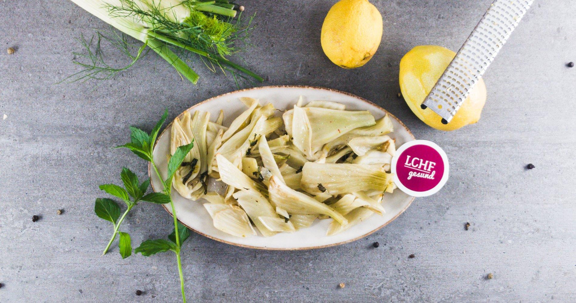 Rezept Low Carb: Zitroniges Fenchelgemüse - LCHF-gesund.de