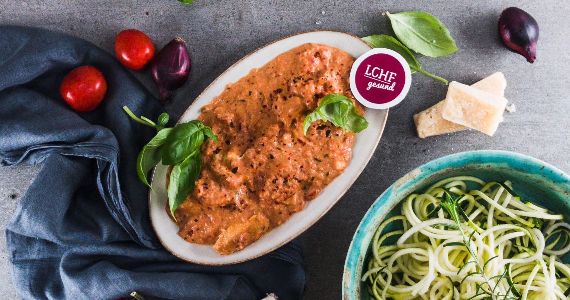 Rezept Low Carb: Tomaten-Mascarpone-Hühnchen - LCHF-gesund.de