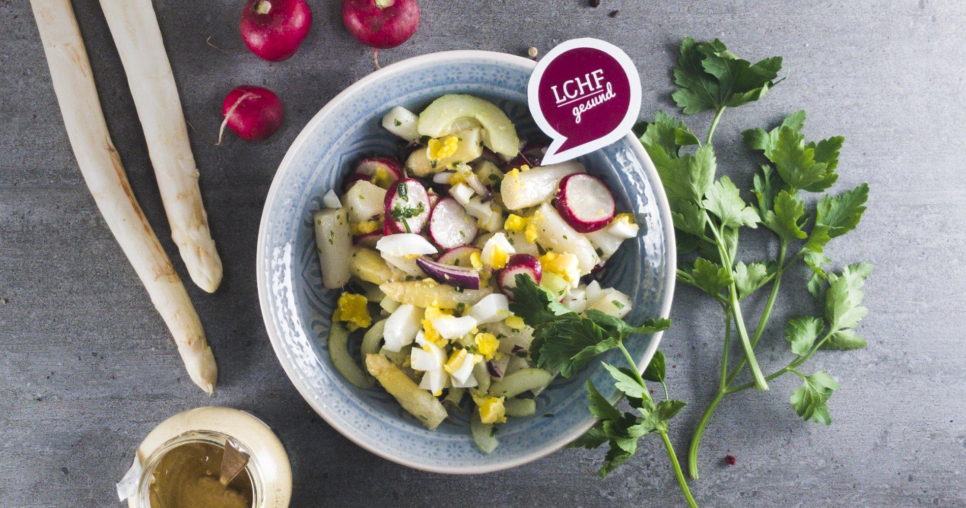 Low Carb: Fränkischer Spargelsalat - mit Radieschen und Gurke