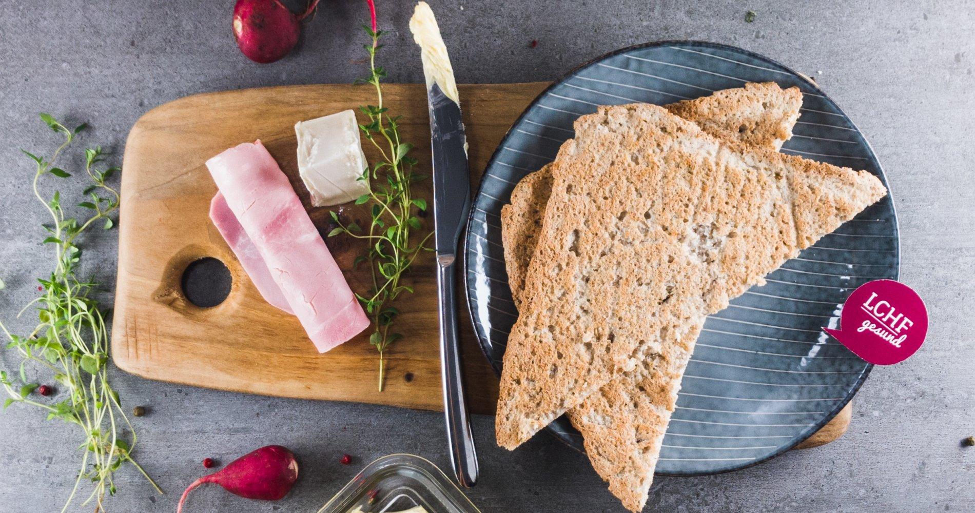 Low Carb: Sandwich- und Toastbrot - für leckere Snacks