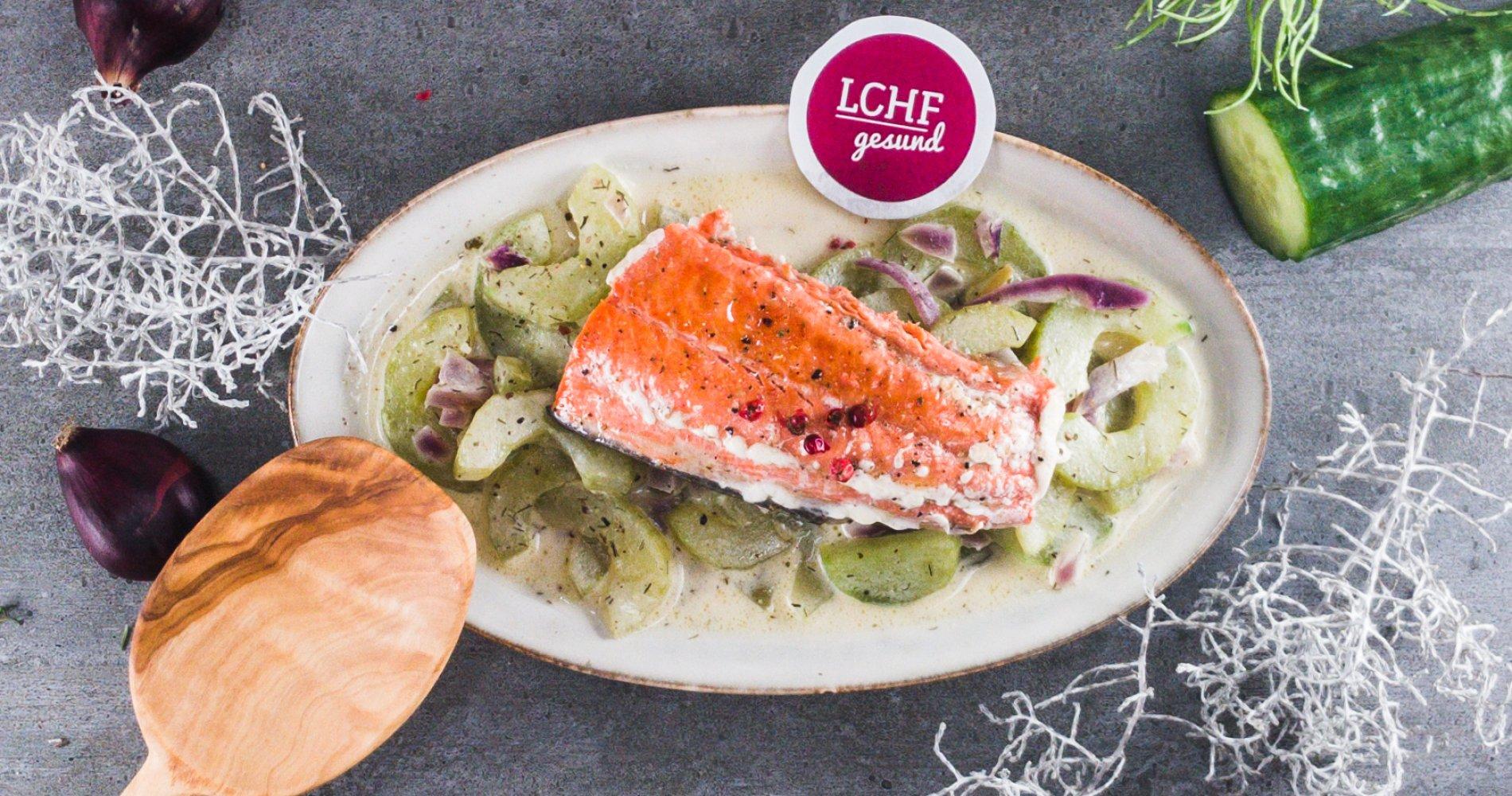 Rezept Low Carb: Gebratener Lachs - LCHF-gesund.de