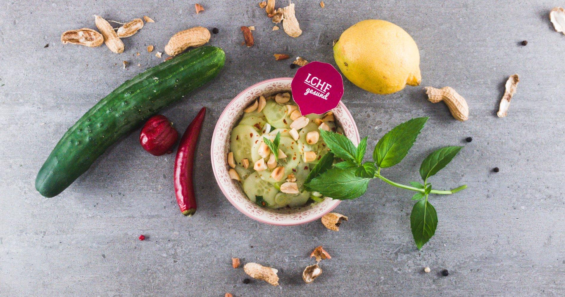 Rezept Low Carb: Gurkensalat nach Thai-Art - LCHF-gesund.de