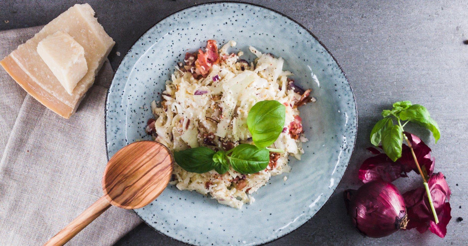Rezept Low Carb: Spaghetti Carbonara - LCHF-gesund.de