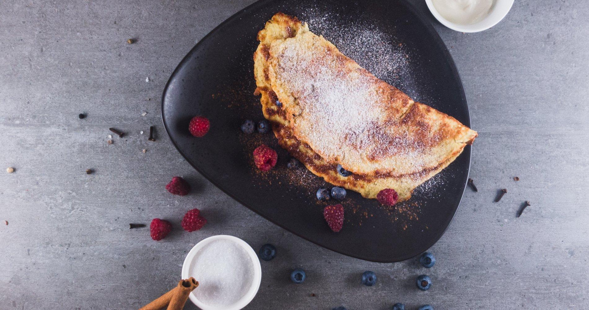 Rezept Low Carb: Süßer Pfannkuchen - LCHF-gesund.de