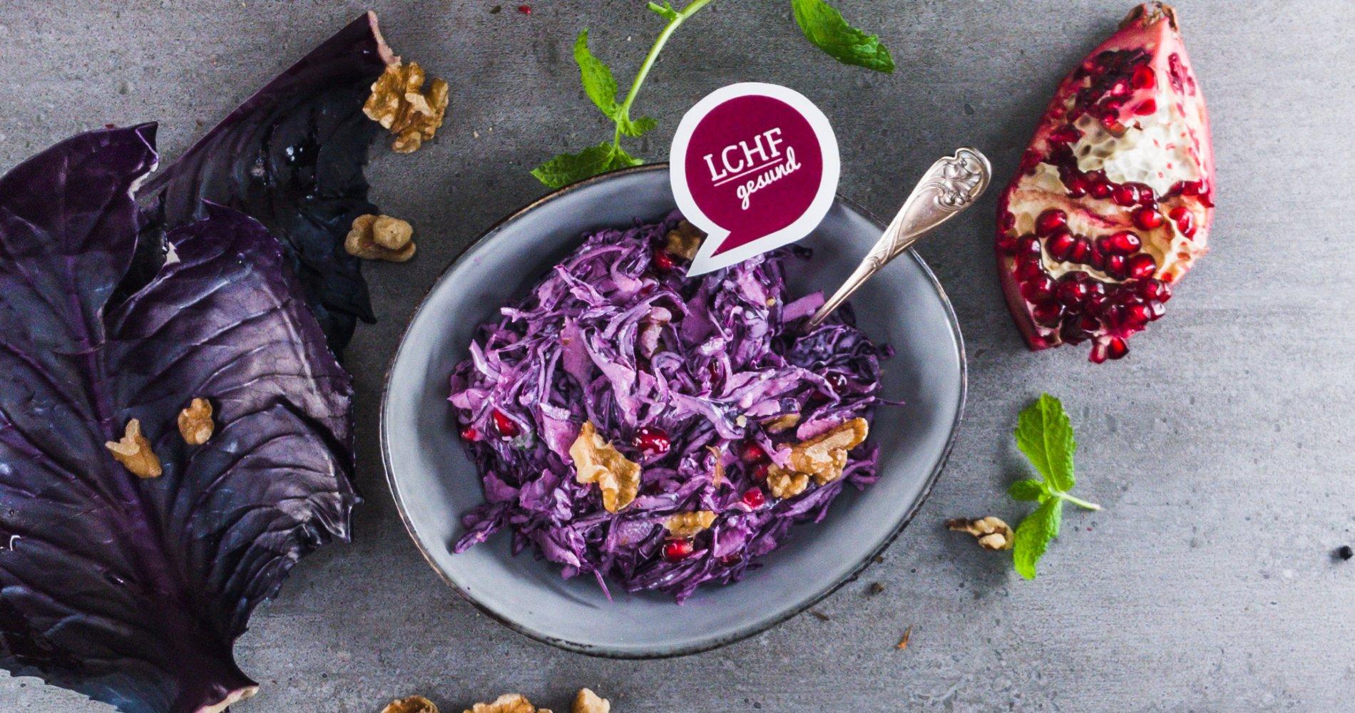 Rezept Low Carb: Rotkohl-Granatapfel-Salat - LCHF-gesund.de