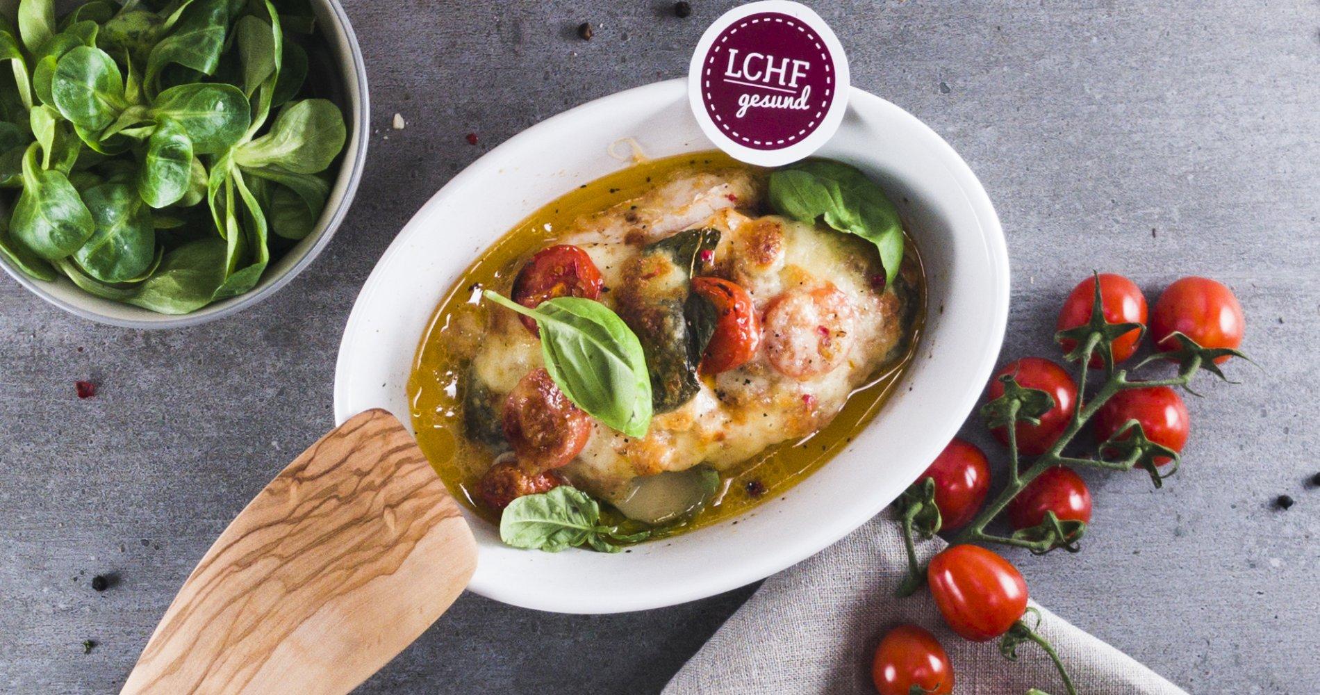 Rezept Low Carb: Pesto-Ofenhähnchen  - LCHF-gesund.de