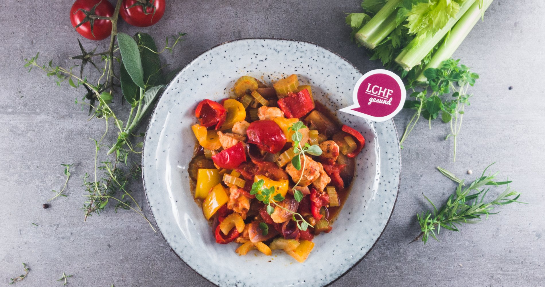 Low Carb: Schneller Sellerie-Tomaten-Eintopf - mit zarter Putenbrust