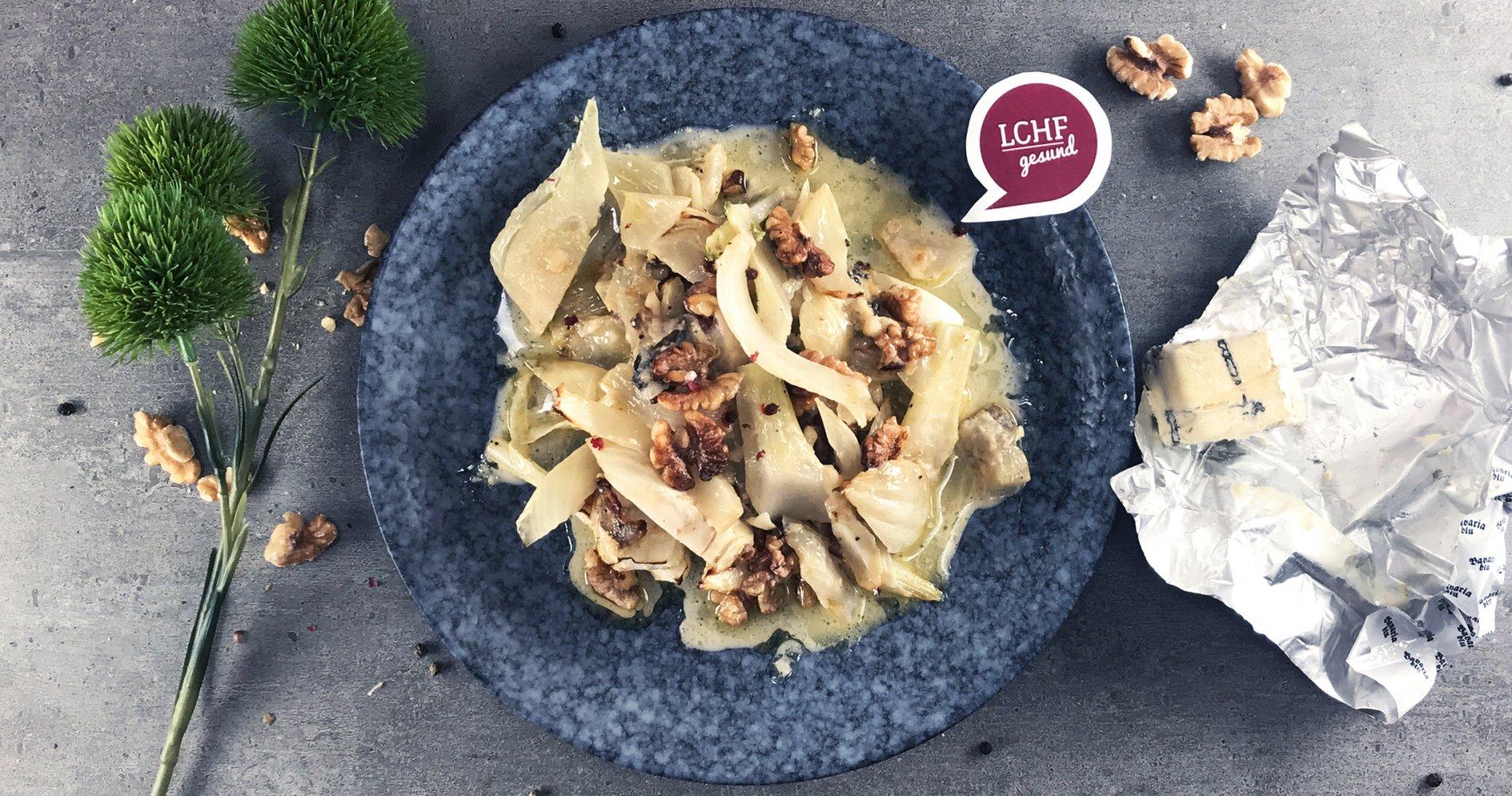 Rezept Low Carb: Fenchelgemüse mit Schimmelkäse aus dem Ofen - LCHF-gesund.de