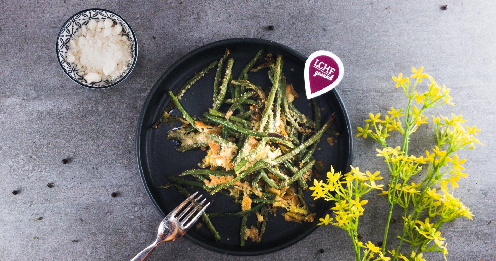 Rezept Low Carb: Parmesanbohnen gebacken - LCHF-gesund.de