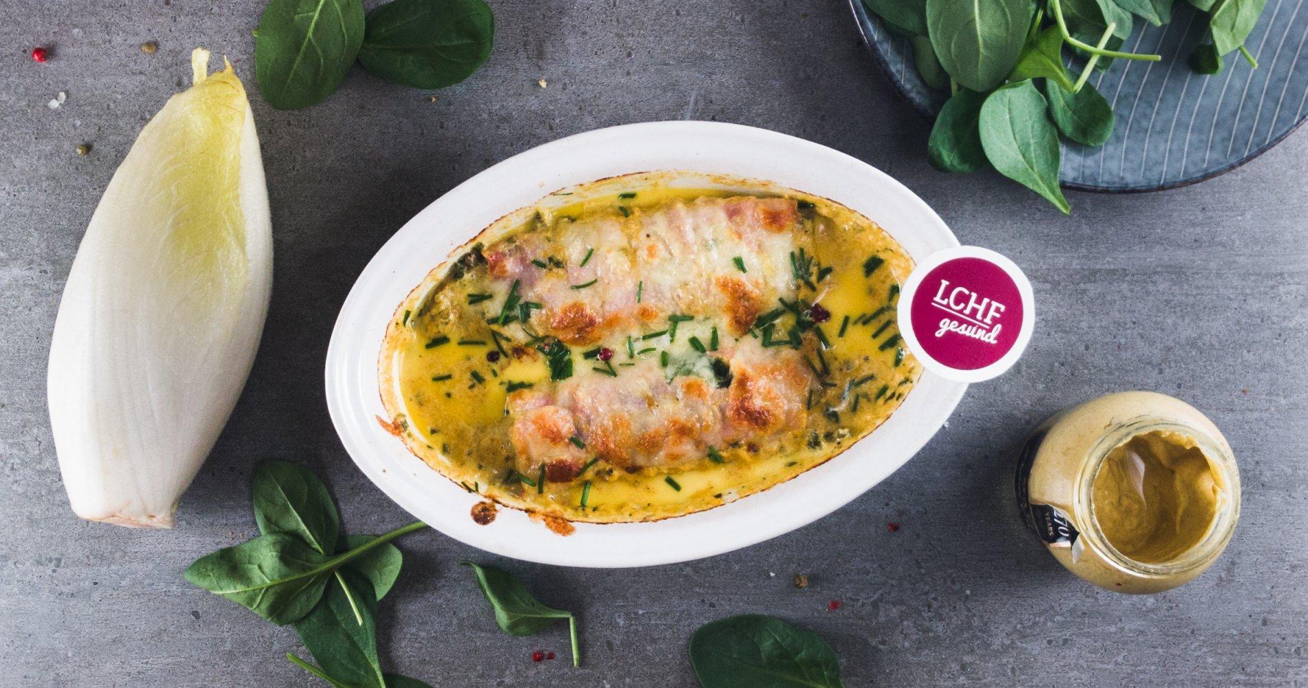 Rezept Low Carb: Chicorée in sahniger Käsesoße - LCHF-gesund.de