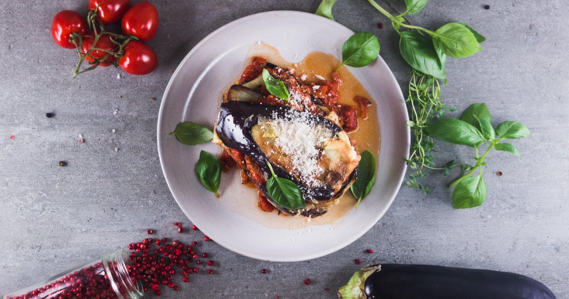 Rezept Low Carb: Auberginenlasagne vegetarisch - LCHF-gesund.de