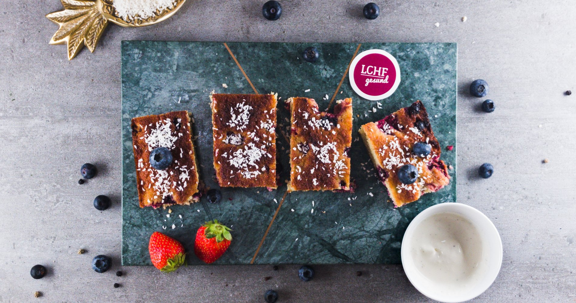 Rezept Low Carb: Einfacher Blechkuchen - LCHF-gesund.de
