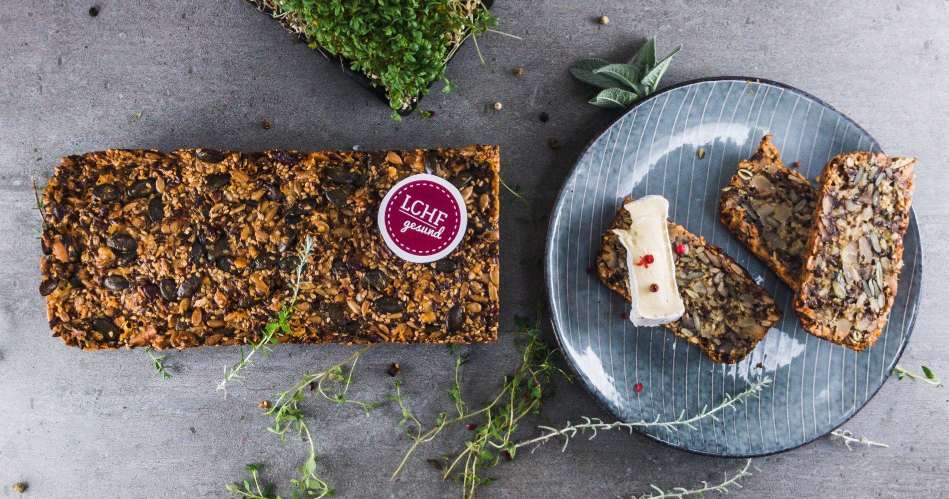 Rezept Low Carb: Käse-Nussbrot - LCHF-gesund.de